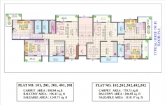 Typical 1st to 5th Floor Plan