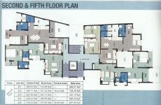 Second & Fifth Floor Plan