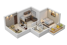 1 BHK Cut Section