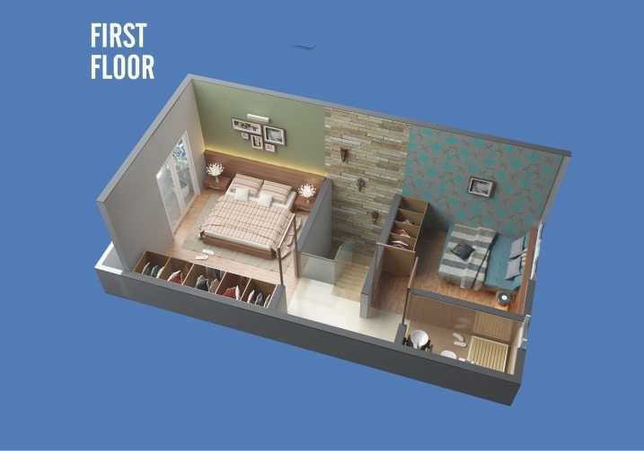 1 & 2  BHK Row Bungalow - First Floor