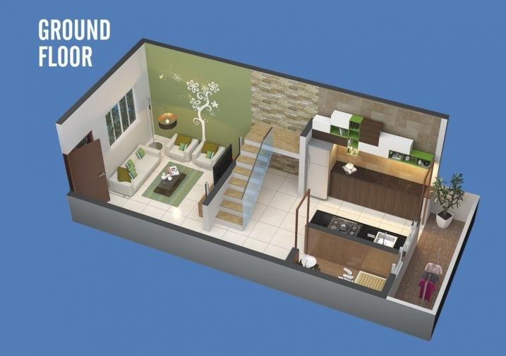 1 & 2  BHK Row Bungalow - Ground Floor