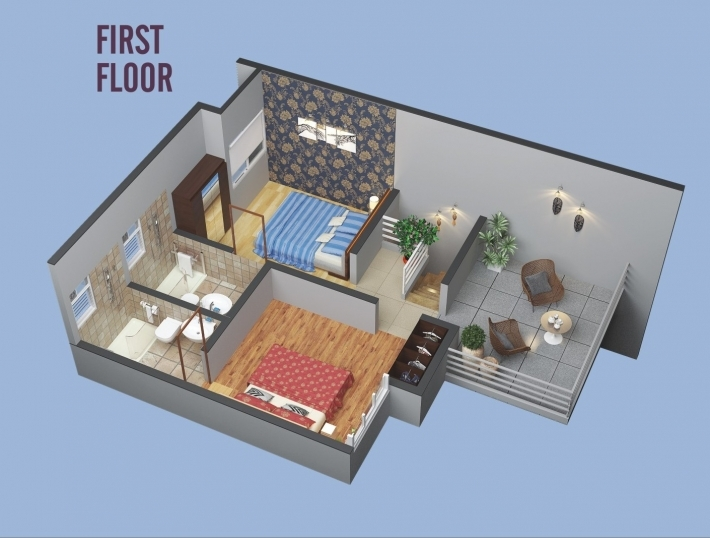 2 & 3 BHK Row Bungalow - First Floor