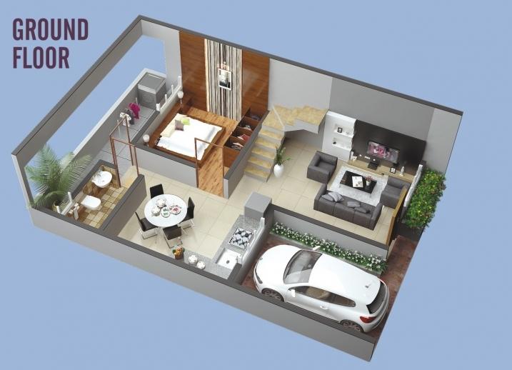 2 & 3 BHK Row Bungalow - Ground Floor
