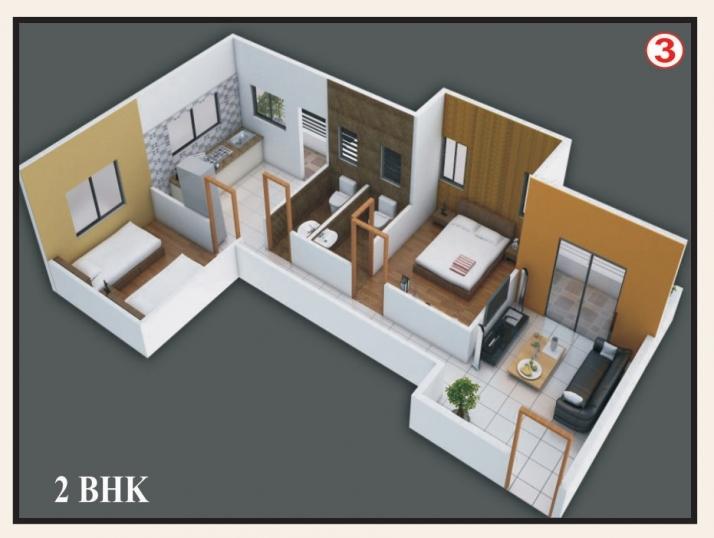 2 BHK Type 1