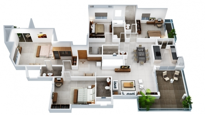 4 BHK Cut Section