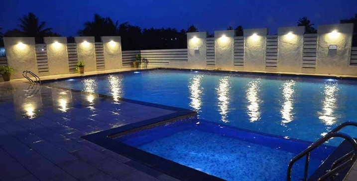 Swimmming Pool Night View