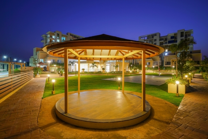 Gazebos and Peace Zone - Night View